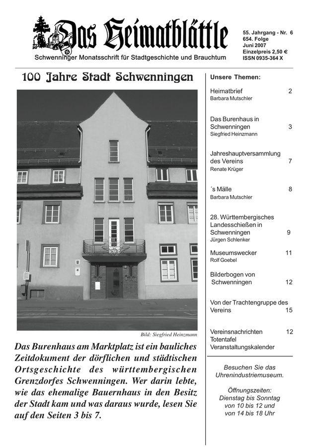 Heimatblättle Juni 2007