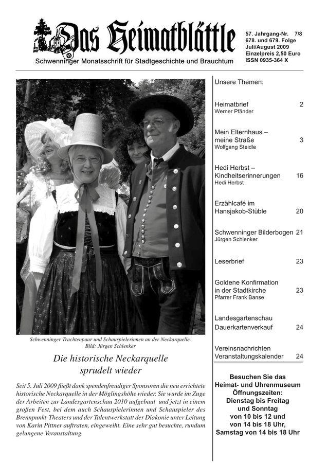 Heimatblättle Juli-August 2009